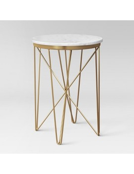 Marble Top Round Table Gold   Project 62™ by Shop Collections