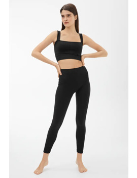 Seamless™ Ribbed Yoga Tights by Arket
