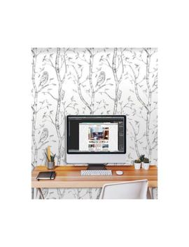 Grey Woods Peel And Stick Wallpaper by Nu Wallpaper