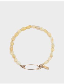 Opal Safety Pin Bracelet by Loren Stewart Loren Stewart