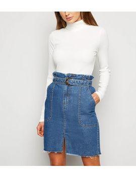 Urban Bliss Blue Denim High Waist Skirt by New Look