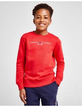 Tommy Hilfiger Essential Logo Crew Sweatshirt Junior by Jd Sports