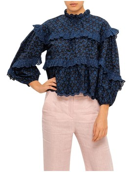Isa L/S Cotton Blouse by Ulla Johnson