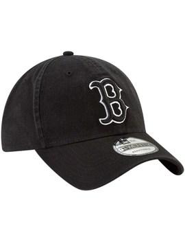 Men's New Era Black Boston Red Sox Core Classic Twill 9 Twenty Adjustable Hat by New Era