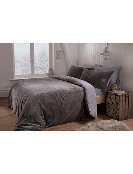Sleepdown Waffle Teddy Fleece Bedding Set   Single456/6980 by Argos