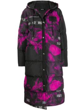 Floral Print Puffer Coat by Diesel