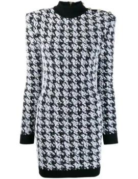 Houndstooth Mini Dress by Balmain