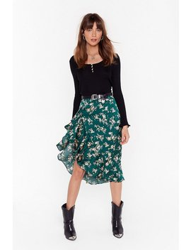 Nothing Bud A Goodtime Floral Midi Skirt by Nasty Gal