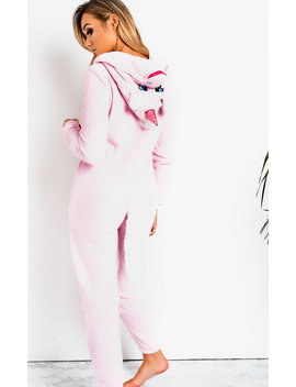 Flo Unicorn One Piece Suit In Pink by Ikrush