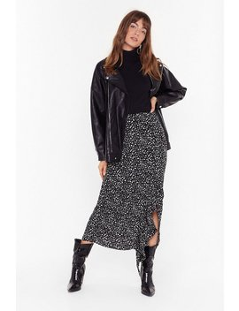 Printed Ruffle Front Maxi Skirt by Nasty Gal