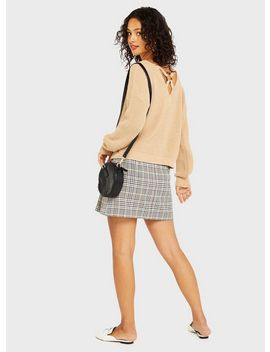Tan Ring Back Detail Knitted Jumper by Miss Selfridge