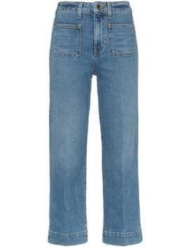 Raquel Cotton Blend Patch Pocket Jeans by Khaite