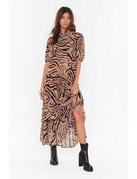 Haven't You Herd Zebra Maxi Dress by Nasty Gal