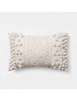Oblong Pom Throw Pillow Cream   Opalhouse™ by Shop Collections