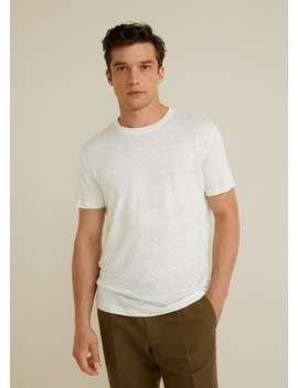 100% Linen T Shirt by Mango