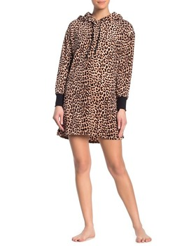 Velour Hoodie Lounger Dress by Betsey Johnson