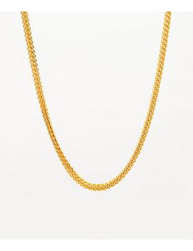 "The Gold Gods 22"" Yellow Gold Franco Box Chain Necklace by Zumiez"