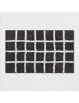 Windowpane Bath Rug Black/White   Project 62™ by Project 62