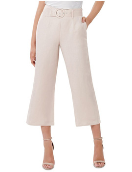 Vera Linen Blend Belted Pants by Forever New