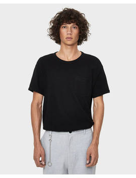 Textured Stitch T Shirt by Bershka