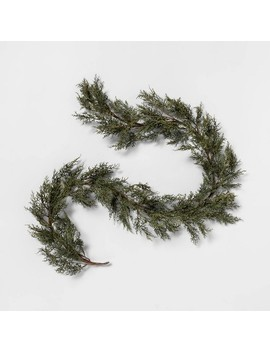 """72"""" Faux Cypress Garland   Hearth & Hand™ With Magnolia by Hearth & Hand With Magnolia"""
