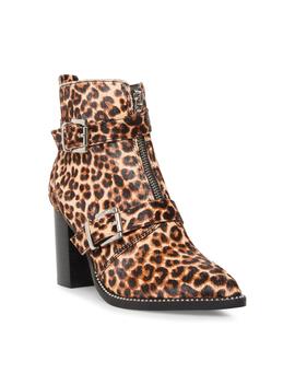 Steve Madden Halle Leopard Bootie (Women's) by Steve Madden