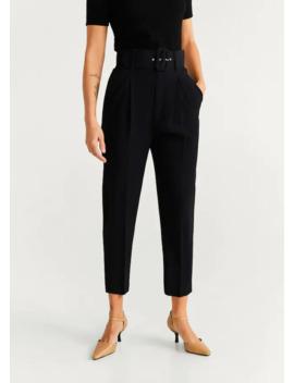 Belt Suit Trousers by Mango
