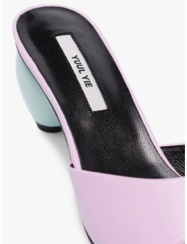 Pink June 60 Leather Mules by Yuul Yie