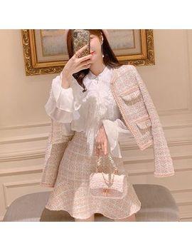 Paila   Set: Tweed Jacket + Mini A Line Tweed Skirt by Paila