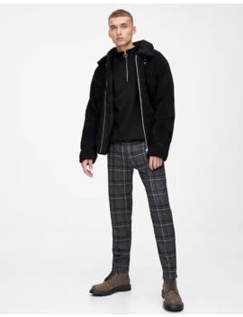 Καρό παντελόνι τσίνο Slim Tailoring by Pull & Bear
