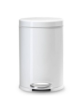 4.5 L Round Step Open Trash Can   Simplehuman by Simplehuman