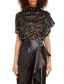 Sequin Drape Blouse by Isabel Marant