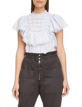 Pleyel Lace Trim Cotton Top by Isabel Marant Étoile