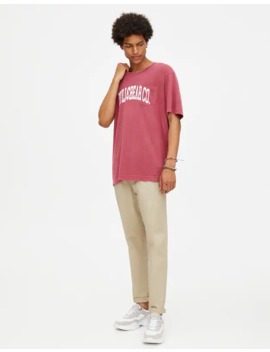 Παντελόνι τσίνο Skinny Fit με ζώνη by Pull & Bear