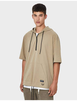 Hooded Pouch Pocket Shirt by Bershka