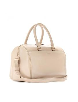Duffle Classic 6 2way Boston 868650 Beige Leather Shoulder Bag by Saint Laurent