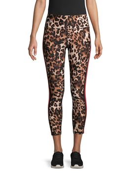 Leopard Print Cropped Leggings by Calvin Klein Performance