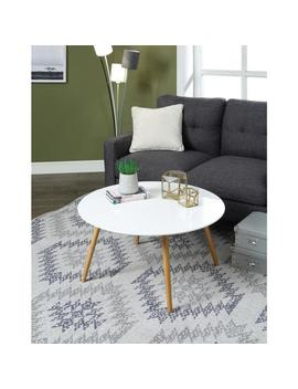 Oslo Glossy White Round Coffee Table by Convenience Concepts