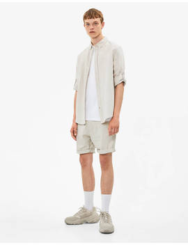 Bermudas With Turn Up Hems by Bershka