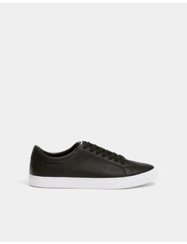 Sneakers μαύρα με διάτρητο σχέδιο by Pull & Bear