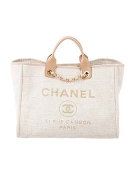 Large Deauville Shopping Tote by Chanel