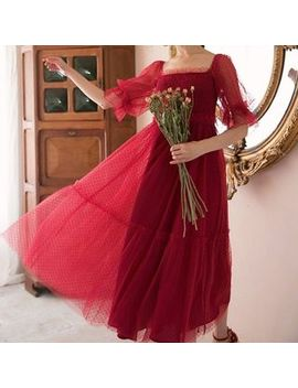 Paila   Short Sleeve Midi A Line Dress by Paila
