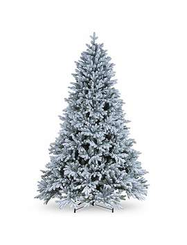 7ft Feel Real Snow Dusted Christmas Tree by Dunelm