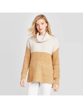 Women's Colorblock Long Sleeve Turtleneck Tunic Sweater   Universal Thread™ by Universal Thread