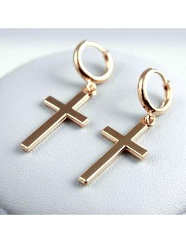 Women Fashion Punk Cross Pendant Cartilage Drop Dangle Earrings Jewelry by Ali Express.Com