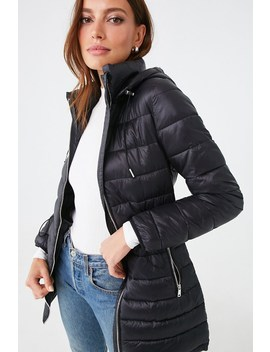 Nylon Drawstring Puffer Jacket by Forever 21