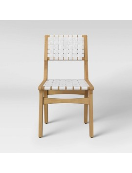 Ceylon Woven Dining Chair   White & Natural Wood   Opalhouse™ by Shop Collections