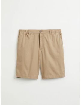 Drawcord Cotton Shorts In Dune by Frank & Oak