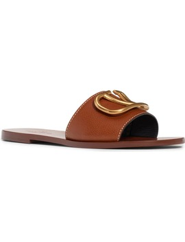 Brooch Slide Sandal by Valentino Garavani