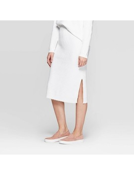 Women's Mid Rise Midi Skirt   Prologue™ White by Prologue